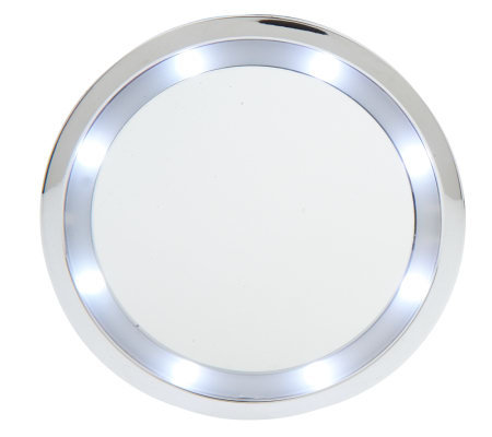 Floxite 10x Lighted Magnifying Suction Cup Mirror