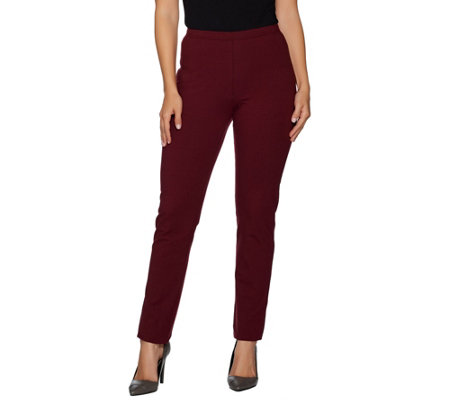 Women with Control Regular Pull-on Slim Leg Pants