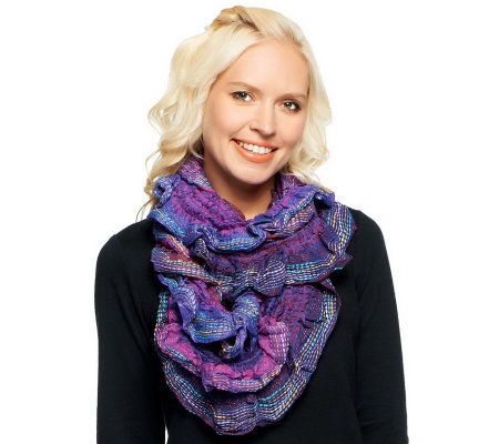 Collection 18 Textured Scrunch Infinity Scarf