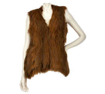 Wendy Williams Faux Fur Vest with Hook & Eye Closure - A228623