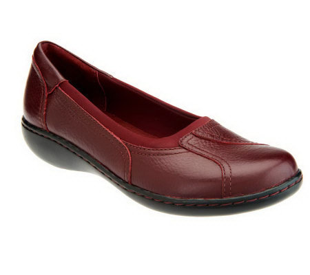 Clarks Bendables Ashland Ray Leather Slip-on Shoes