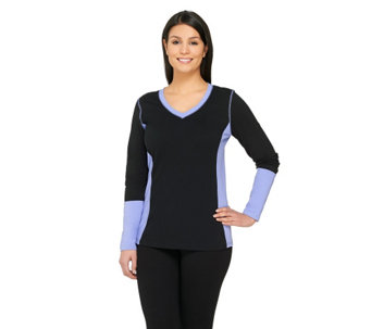 Denim & Co. Active Perfect Jersey Color-block Top - A240623