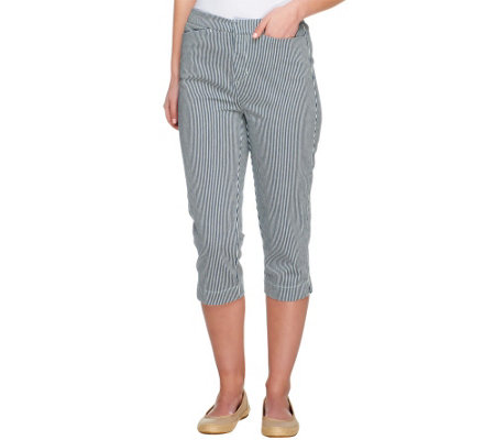 Liz Claiborne New York Petite Jackie Striped Capris