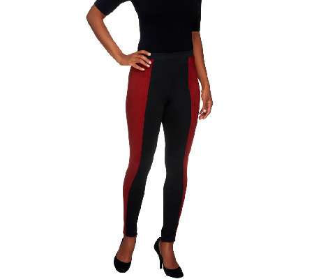 View by Walter Baker Regular Ponte Leggings with Faux Suede Detail