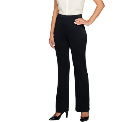 Susan Graver Petite Premier Knit Boot Cut Pants