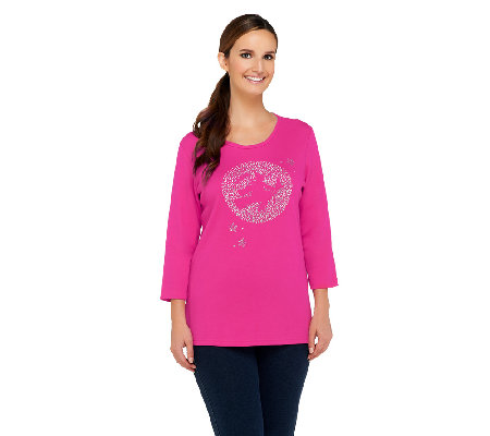 Quacker Factory Moonlighting Witch 3/4 Sleeve T-shirt