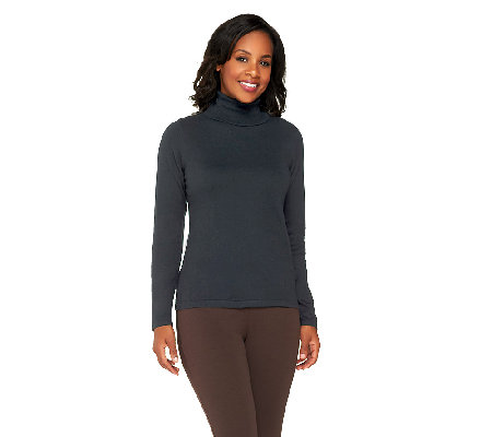 Joan Rivers Cashmere Blend Long Sleeve Turtleneck