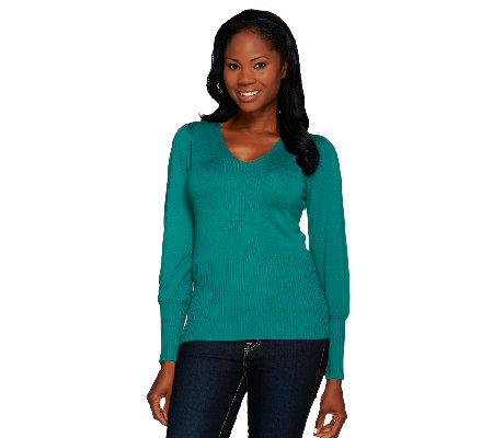 Linea by Louis Dell'Olio Whisper Knit Rib Neck Pullover