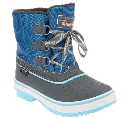 Skechers Highlanders Lace Up Winter Boots - Polar Bear