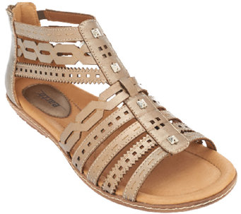 Earth Leather Multi-strap Sandals - Bay - A262423