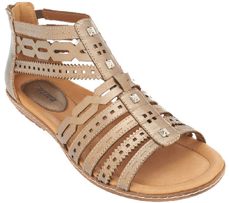 Earth Leather Multi-strap Sandals - Bay