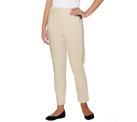 Susan Graver Coastal Stretch Comfort Waist Pull-On Ankle Pants