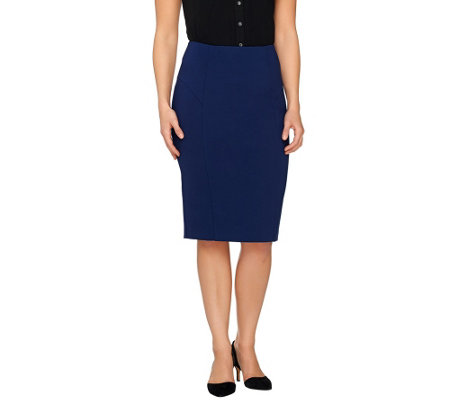 G.I.L.I. Milano Ponte Pencil Skirt with Seaming Detail