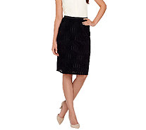 Linea by Louis Dell'Olio Textured Knit Pull-On Skirt - A265623