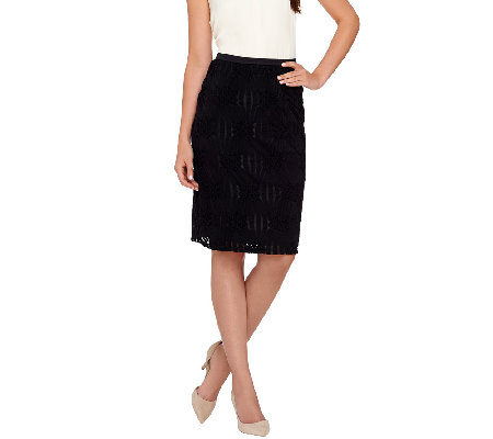 Linea by Louis Dell'Olio Textured Knit Pull-On Skirt