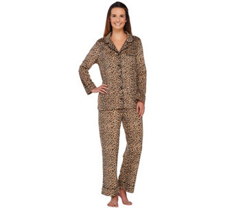 Carole Hochman Petite Micro Fleece Notch Collar Pajama Set - A266723