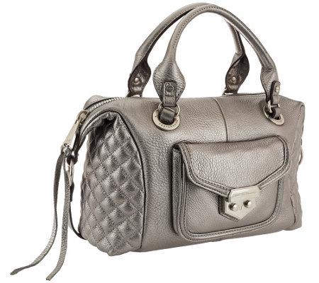 Aimee Kestenberg Pebble Leather Quilted Satchel - Zoe
