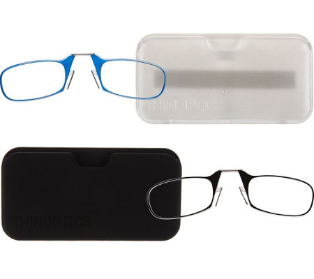 ThinOPTICS Set of Two Flexible Readers with Universal Case