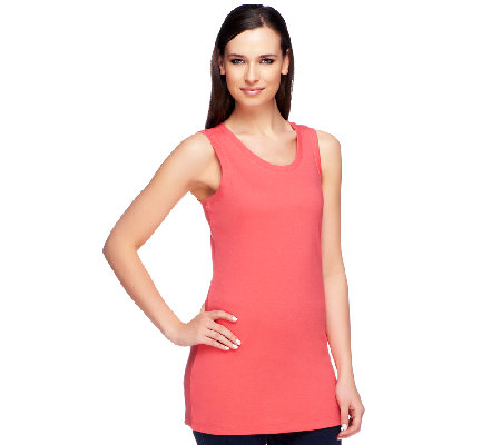"""As Is"" Isaac Mizrahi Live! Extra Long Knit Tank"