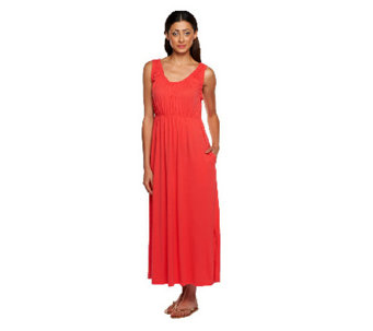 """As Is"" Stan Herman Rayon Jersey Sleeveless Maxi Dress - A272723"