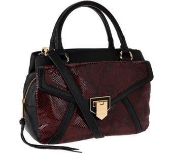 """As Is"" Aimee Kestenberg Pebble Leather Swagger Satchel - Savanah - A274923"