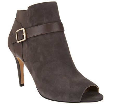 Marc Fisher Leather or Suede Peep-toe Ankle Boots - Shimmee - Page ...