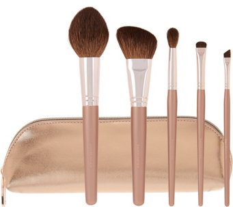bareMinerals Plushest Touch 5-pc Brush Collection w/ Bag - A278723