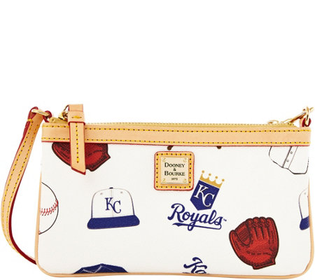 Dooney & Bourke MLB Royals Large Slim Wristlet