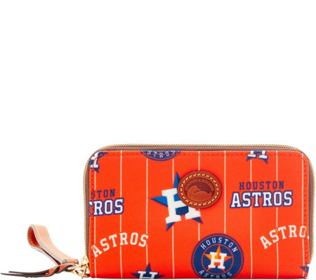 Dooney & Bourke MLB Nylon Astros Zip Around Phone Wristlet