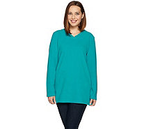 Denim & Co. Active Long Sleeve V-Neck Tunic with Pockets - A284523