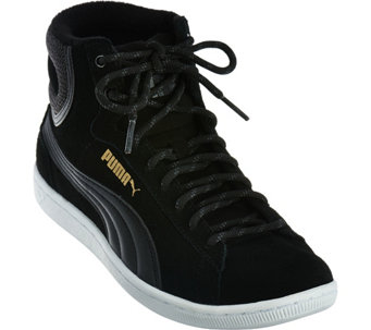 PUMA Suede Hightop Lace-up Sneakers - Vikky Mid - A286323