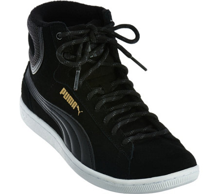 PUMA Suede Hightop Lace-up Sneakers - Vikky Mid