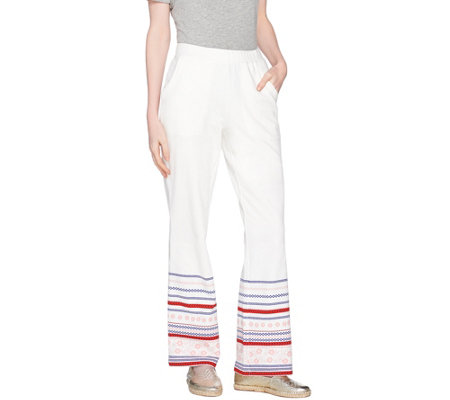 C. Wonder Regular French Terry Border Print Lounge Pants