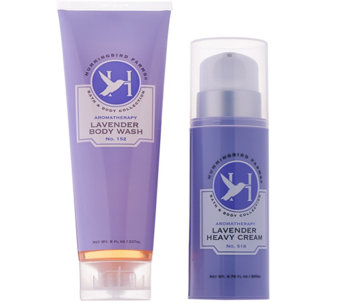 Hummingbird Farms Lavender Heavy Cream & Body Wash Set - A287023