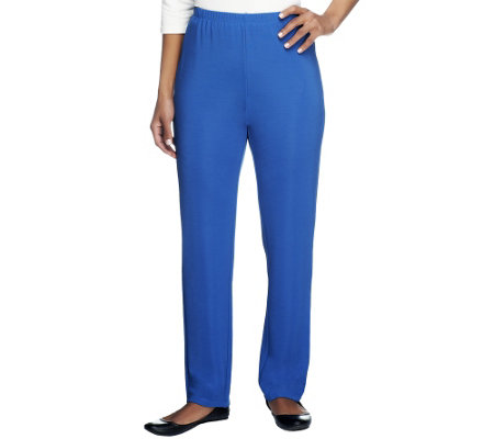 """As Is"" Susan Graver Lustra Knit Essentials Regular Skinny Pants"