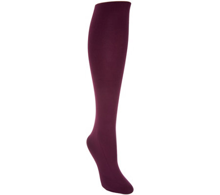 LOGO by Lori Goldstein Opaque Knit Tights
