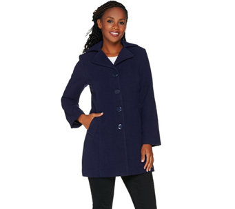 """As Is"" Joan Rivers Classic Swing Coat - A293123"