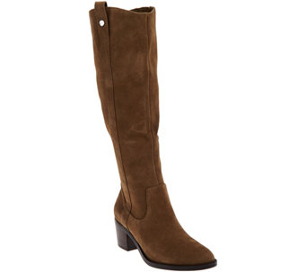 """As Is"" Marc Fisher Suede Wide Calf Tall Shaft Boots - Kimmee - A293423"