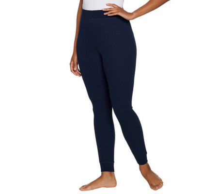AnyBody Loungewear Cozy Knit Waffle Leggings