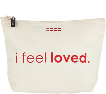 Peace Love World Affirmation Canvas Zipper Pouches A