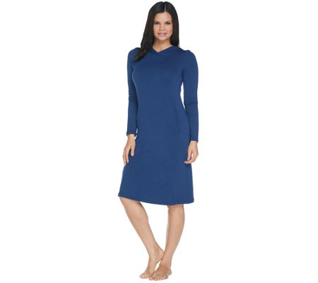 Cuddl Duds Ultra Soft Comfort Swing Dress with Hood