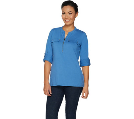 """As Is"" Belle by Kim Gravel Long Sleeve Utility Shirt"