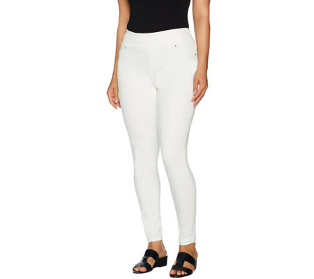 """As Is"" Lisa Rinna Collection Pet. Pull-On Skinny Ankle Jeans"