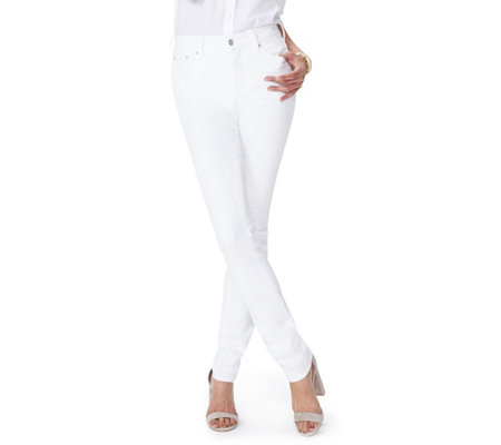 NYDJ Marilyn Straight Leg Jeans - Optic White