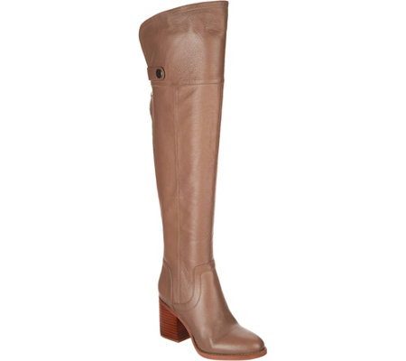 """As Is"" Franco Sarto Wide Calf Leather Over- the-Knee Boots- Ollie"