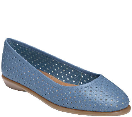 Aerosoles Stitch N Turn Perforated Slip-ons - Between Us