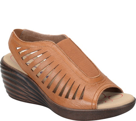 Bionica Leather Wedge Sandals - Vista