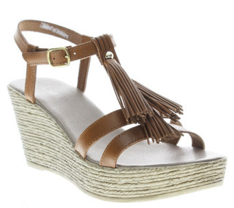 Azura by Spring Step Leather Wedge Sandals  -Romance - A339723