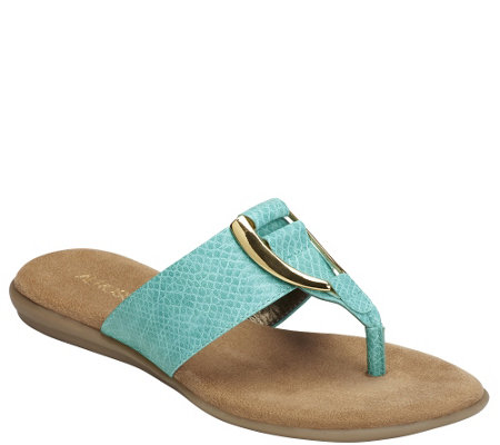 Aerosoles Slip-on Thong Sandals - Nice Save