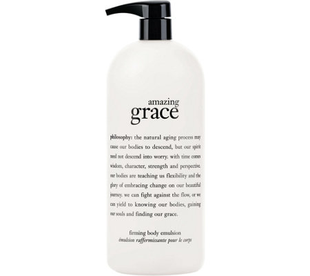 philosophy super-size amazing grace firming body emulsion, 32oz.